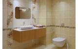 Бордюр настенный Global Tile ADELE БЕЖЕВАЯ 24AL0501M, размер 77 х 270 мм