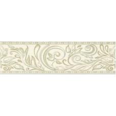 Бордюр настенный Global Tile ADELE БЕЖЕВЫЙ B24AW0701, размер 77 х 270 мм