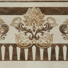 Керамогранит Unitile (Шахтинская керамика) АГАТ БЕЖЕВЫЙ ДЕКОР 01, размер плитки 400 х 400 мм