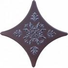 Декоративная вставка Gracia Ceramica STELLA BROWN, размер 110 х 110 мм