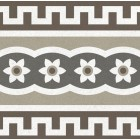 Метлахская плитка Gracia Ceramica CONTI MULTI DECOR PG02, размер плитки 200 х 200 мм