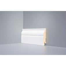 Белый напольный плинтус МДФ Deartio Universal U103 высота 80 мм