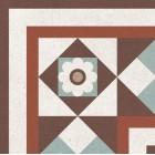 Метлахская плитка Gracia Ceramica LONGO MULTI DECOR PG01, размер плитки 200 х 200 мм